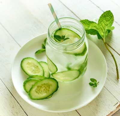 Cucumber keeps your Body Hydrated