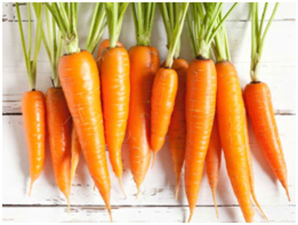 Carrots are rich in iron and fiber that helps in increasing the height naturally