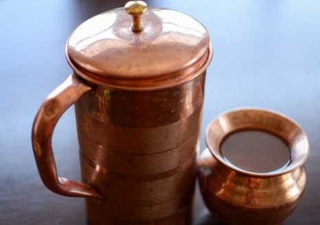 Drinking Copper Vessel Water