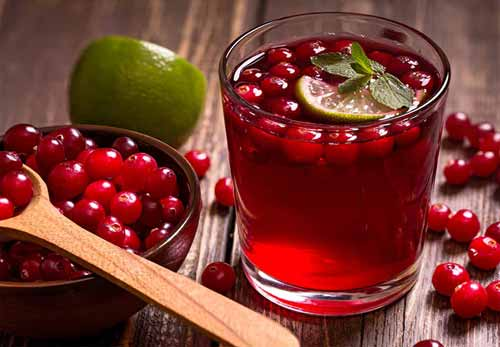 Cranberry juice to digest waste