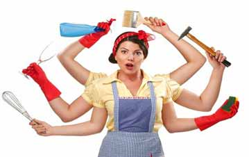 Do household chores on regular basis to get well shaped breasts
