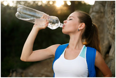 Water is the best coolant for the water and keeps your body hydrated