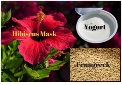 Hibiscus and fenugreek moisturizes the scalp and prevents dandruff