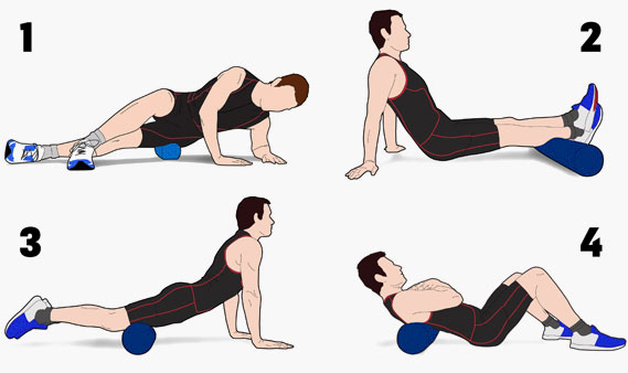Foam Rolling Exercises to relieve Muscle pain