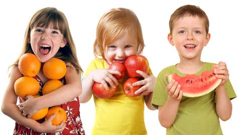 Fruits are rich in fibre and vitamins essential for child's height