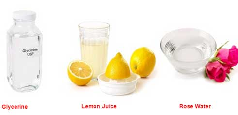 Glycerine and Lemon Juice