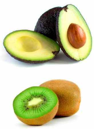 Kiwi avocado Face Pack.