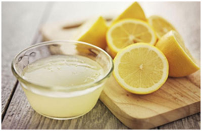 Lemon juice and Vaseline helps in locking the moisture in the skin and keeps it soft