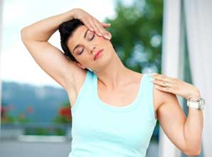 Neck exercise helps in curing cervical pain in the neck