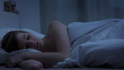 Sleep in dark room