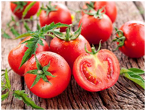 Tomatoes are healthy in nature and contains lycopene that improves the skin tone
