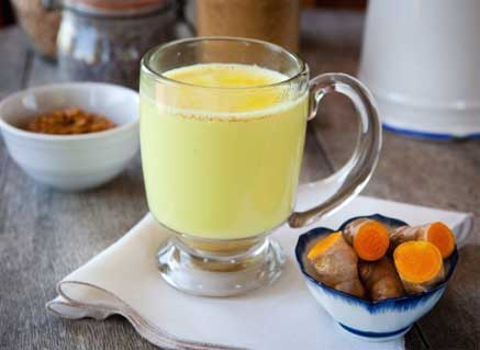 Turmeric Warm Milk for Chest Congestion