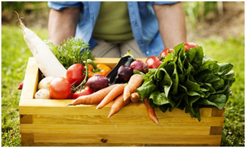 Fresh vegetables are good for heart health and keeps blood sugar in control